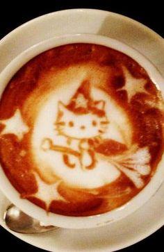 →follow← my board ♡ͦ* ¢σffєє σвѕєѕѕє∂ ♡ͦ* @ ★☆Danielle ✶ Beasy☆★ .·:*¨¨*:·.Coffee ♥ Art.·:*¨¨*:·.           Halloween kitty cat Latte Art, too cute!!!!