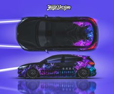 Livery created by Yagodesign, the Wrap & Livery design studio cooperating with best wrapping companies from all over the world. Vinyl Wrap Car, Car Drawings, Steve Mcqueen, Car Painting, Car Wrap, Future Car, Automotive Design, Ford Focus, Paint Designs