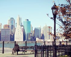 Brooklyn heights promenade: much like the promenade near my parents' house on East End Avenue - the Brooklyn Heights 'hood of the Upper East Side.