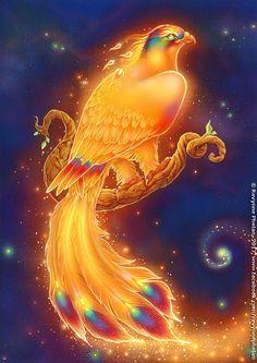 Rebirth Awaits by ravynnephelan on DeviantArt – animal wallpaper Mystical Animals, Mythical Creatures Art, Magical Creatures, Mythical Bird, Beautiful Fantasy Art, Dark Fantasy Art, Fantasy Wolf, Phoenix Artwork, Phoenix Wallpaper