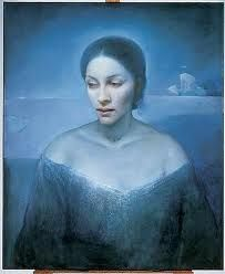 Isdronningen by Vebjørn Sand, Norway - Will O The Wisp, Nordic Lights, Sand Painting, Paintings I Love, Great Artists, Norway, Scandinavian, Mona Lisa, Illustration