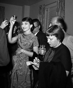 Maria Callas at a conference in New York in 1958