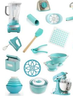 Tiffany Blue Kitchen Accessories... LOVE them all!  Would work in an aqua or…