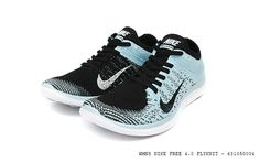 Nike Free Flyknit 4.0 WMNS   Black / Black   Glacier Ice   White