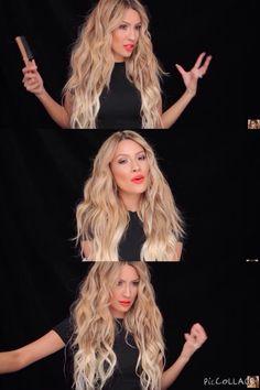 Desi Perkins long blonde hair curls
