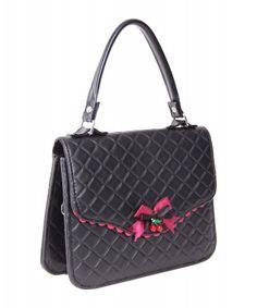 Yasmina 50s retro Pin Up Tasche Handtasche gesteppt v. SugarShock – Bild 1