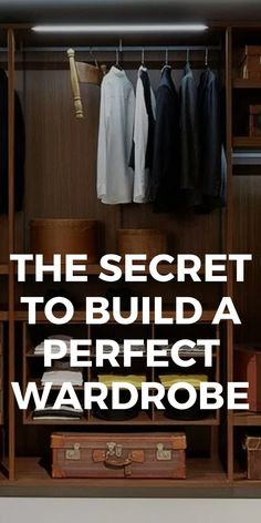 Men's Guide To Building A Perfect Wardrobe. #mensfashion #fashion #style