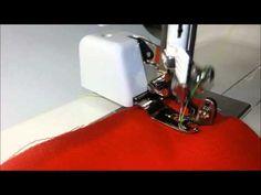 Como usar o calcador de overloque em sua máquina de costura - YouTube