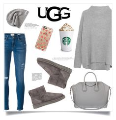 """The Icon Perfected: UGG Classic II Contest Entry"" by jenningsseton ❤ liked on Polyvore featuring Frame Denim, Vince, UGG Australia, Converse, Givenchy, Casetify, H&M, ugg and contestentry"