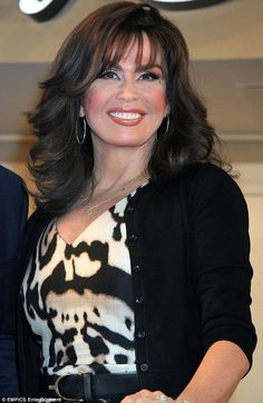 marie osmond hairstyles 2014 | This is my mommy hair': Marie Osmond reveals the blonde wig she wears ... Older Women Hairstyles, Mommy Hairstyles, Pretty Hairstyles, Wedding Hairstyles, Mom Haircuts, Great Haircuts, Layers And Bangs, Donny Osmond, Marie Osmond