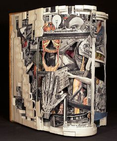 If It's Hip, It's Here (Archives): Turning Text Into Art. Intricately Altered Books by Brian Dettmer.