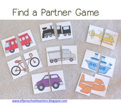 Game: Find a partner. Have a group of students stand up in the front of the class. Give them a card in ramdom order. Tell them to find a p...