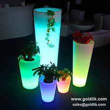 led flower pot,led plastic lighted flower pot widely used in garden,wedding party. more details,pls visit http://goldlik.com/product-flowerpot-gkf-138rd.html