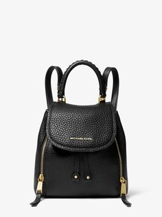 Viv Extra-Small Pebbled Leather Backpack