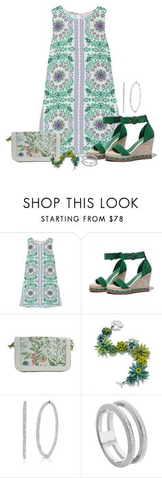 """""""Garden Party"""" by freida-adams ❤ liked on Polyvore featuring Tory Burch and Monica Vinader"""