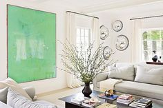 Minimalistic and white with surprising feature. /In Good Taste:Julie Hillman
