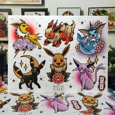 Pokemon Tattoo Ideas found via IG Nerdy Tattoos, Anime Tattoos, Body Art Tattoos, Sleeve Tattoos, Cool Tattoos, Tattoo Sleeves, Hand Tattoos, Tattoo Flash Art, Tattoo Flash Sheet