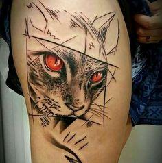 Shape Tattoo, Color Tattoo, Elephant Tattoos, Animal Tattoos, Geometric Cat Tattoo, Dragon Tatto, Soft Tattoo, Mystical Tattoos, Freedom Tattoos
