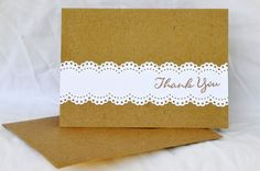 Wedding Thank You Cards Set by SheLovesPaper on Etsy, $7.00