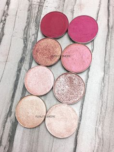 PINKS: Colourpop VS Makeup Geek Eyeshadows swatches
