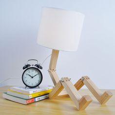 Moderne Houten Tafellamp Leeslamp Art Woninginrichting Hout Lamp in ...