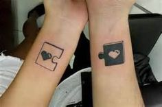 Heart Puzzle Piece Tattoos