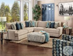 Savesto Ivory Small RAF Sectional from Ashley   Coleman Furniture New Living Room, Living Room Sets, Living Room Chairs, Living Room Furniture, Fabric Sectional, Sectional Sofa, Large Sectional, Large Pillows, Cozy Place