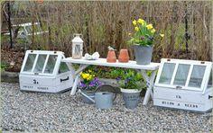 Springgarden, mini-greenhouses, watering can