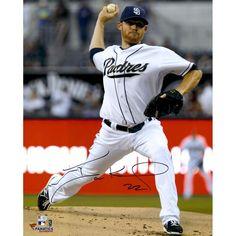 "Ian Kennedy San Diego Padres Fanatics Authentic Autographed 16"" x 20"" White Uniform Vertical Pitch Photograph"