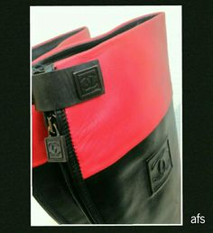 my collection: Red & Black Chanel Boots *photo by afs
