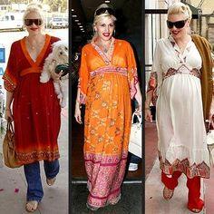 indian kurti / kurta boho chic maternity style
