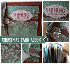 Christmas Card Album using #CTMH product - Greeting Card #Recycling into an album.  #DIY #crafts #sparkle #album #kraft #christmas #cards