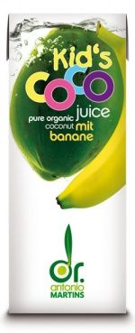 Kid's Coco pure organic coconut juice with banana #packaging #organic