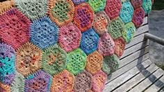 Good weekend is when i have a colourful thing to share. Finally it is finished in almost a month. Baby blanket. I use Alize Batik Gold yarn from @bolabolabenang . The yarn is very soft and it is suitable to crochet blanket sock hat and other wearable things.  #crocheting #crochetaddict #crochetblanket #yarn #pornyarn #happycrocheting #crochetpattern #hexagonalpattern #americangranny by andrianika_