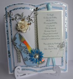 Shoe from a Chloe stamp & put onto a tall story card