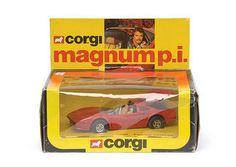 """Mettoy Corgi diecast No.298 """"Magnum PI"""" Ferrari 308 GTS"""