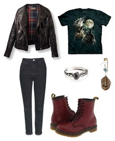 """Aberdeen"" by tomboyfeminist on Polyvore featuring The Mountain, Topshop and Dr. Martens"