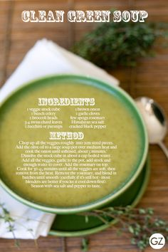 GET ZOMT!: BOX FRESH RECIPE: CLEAN GREEN SOUP from the DETOX CLEANSE NOURISH EBOOK