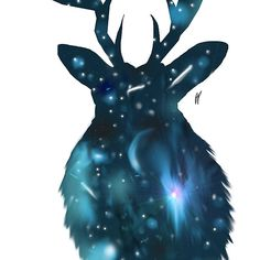 The Space Deer, for sale in my shop, Redbubble.