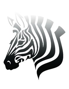 free printable ombre zebra poster. click for link to blog. cute for any room decor.