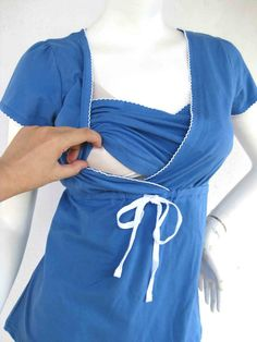 PRINCESS Nursing Top / Breastfeeding Top NEW / Nursing T-shirt/ Blue Top Nursing Tops/ Maternity Clothes/ Free Shipping