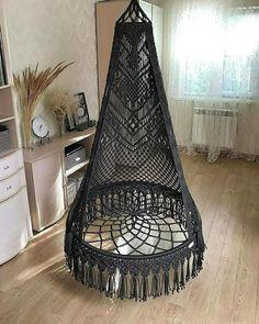 Macrame Hanging Chair, Macrame Chairs, Macrame Wall Hanging Patterns, Macrame Art, Macrame Design, Macrame Projects, Macrame Patterns, Contemporary Leather Sofa, Designer Bed Sheets