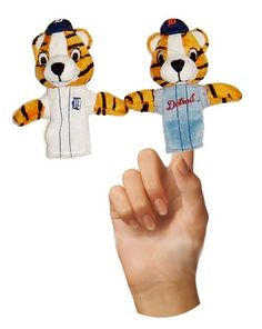 Designed and sold these Mascot Finger Puppets to The Detroit Tigers.