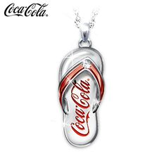 Shop The Bradford Exchange for Coca-Cola Diamond Flip Flop Pendant Necklace. Take a walk on the Coke® Side of Life™ and add some fun in every step of your day. A stunning Coca-Cola® diamond engraved pendant necklace makes a sparkling addition to your. Coca Cola Decor, Coca Cola Ad, Always Coca Cola, World Of Coca Cola, Coca Cola Bottles, Coke Ad, Tupperware, Cocoa Cola, Coca Cola Christmas