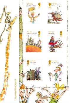 Stamps by Roald Dahl
