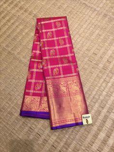 Traditional silk saree from Prakashsilks. Indian Bridal Sarees, Wedding Silk Saree, Bridal Blouse Designs, Saree Blouse Designs, Half Saree Lehenga, Sari, Prakash Silks, Saree Color Combinations, Silk Drapes