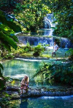 Mele Cascades and Waterfalls, on Efate, Vanuatu. Photo by David Kirkland/Vanuatu Tourism Office (Figi) Tonga, Vanuatu, Vacation Places, Places To Travel, Places To See, Beautiful Islands, Beautiful Places, Amazing Places, Places Around The World