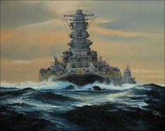 Battleship Yamato Wallpapers - Imgur Yamato Battleship, Bismarck Battleship, Scale Model Ships, Navy Wallpaper, Imperial Japanese Navy, Man Of War, Naval History, Navy Aircraft, Navy Ships