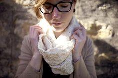 Shell Stitch Cowl in Ecru