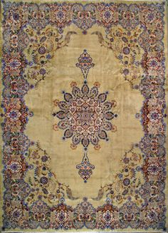 "Kashan Persian Rug, Buy Handmade Kashan Persian Rug 9' 11"" x 13' 7"", Authentic Persian Rug"